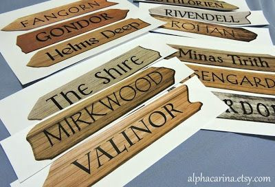 Printable Wooden Arrow Signs Library Decor Pdf Digital Instant