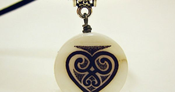Tattoo Jewelry Black Heart Cord Necklace Mother Of By PickaTat $825