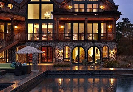 modern day log cabin Dream Houses Dream Home| http://littledreamhouses875.blogspot.com