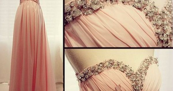 Chiffon prom dress evening dress party dress Sweetheart sleeveless floor-length long prom