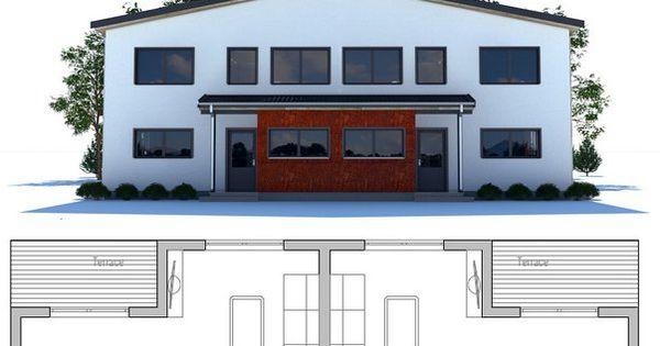 Plan de maison duplex maison duplex pinterest duplex for Plan maison duplex