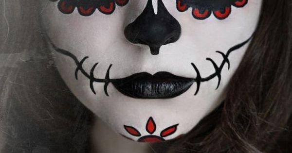 squelette mexicain maquillage recherche google a faire pinterest maquillage squelette. Black Bedroom Furniture Sets. Home Design Ideas