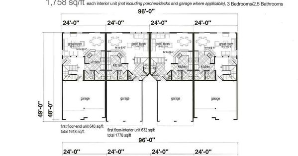 4 Plex Plans Home Plans Pinterest Tripod And House