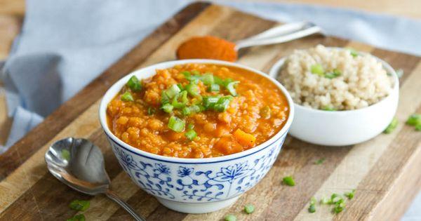 Coconut Curry Red Lentil Soup | Recipe | Vegan lentil soup ...