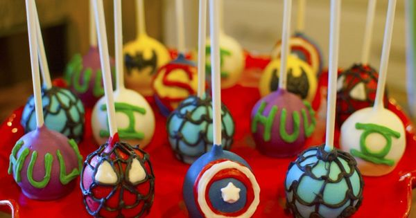 #SuperHero Cakepops - For all your cake decorating supplies, please visit craftcompany.co.uk