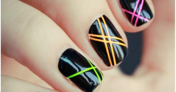 Twitter / illusionails: rayas uñas nails nailsart ...