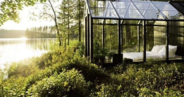 Waking up in a Glass House: The Ultimate Garden Shed bedroom lakeside