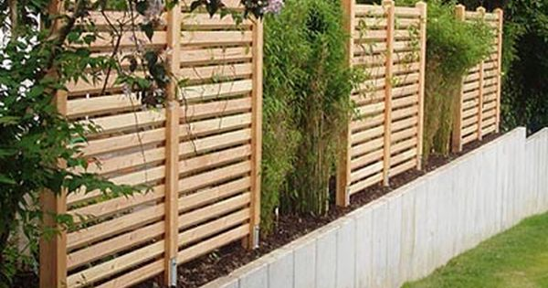 gartenzaun aus douglasienholz auf natursteinmauer garten pinterest natursteinmauer. Black Bedroom Furniture Sets. Home Design Ideas