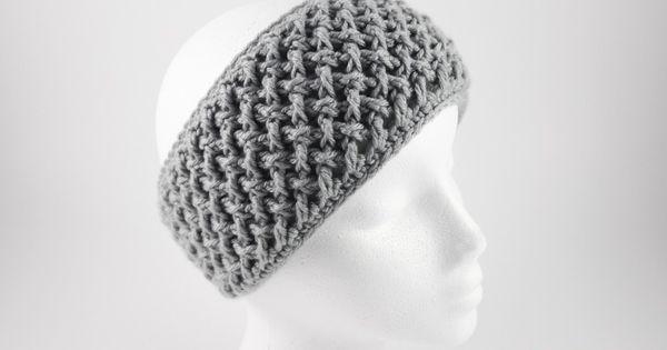 Free Crochet Pattern Criss Cross Head Wrap Faux Button