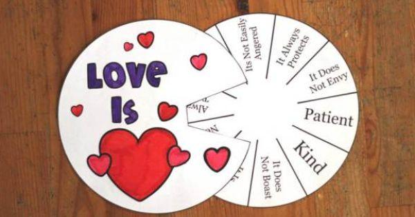 Love Is Sunday School crafts