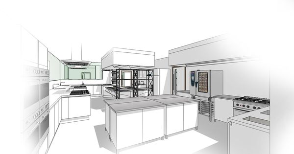 Commercial Kitchen Sketchup Conceptual Stuff Pinterest Commercial Kitchen Commercial
