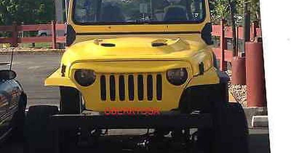 Jeep Wrangler 1989 1995 Yj To Tj Round Headlight Conversion Grill Jeep Wrangler Jeep Wrangler Yj Yellow Jeep