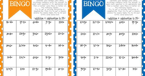 math bingo printable for kids free printable bingo cards math questions and bingo games. Black Bedroom Furniture Sets. Home Design Ideas