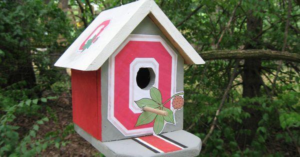 The Ohio State Buckeyes Birdhouse Osu Buckeyes Crafts