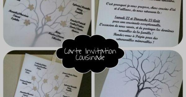 carte invitation cousinade carte et faire part pinterest invitations. Black Bedroom Furniture Sets. Home Design Ideas