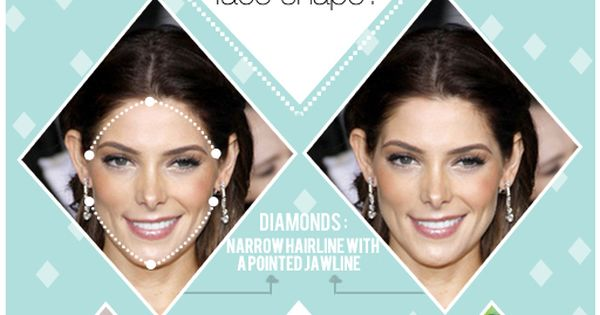 Hair styles and tips for diamond shaped faces from The Beauty Department