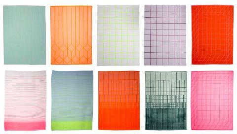 Scholten Baijings Modern Tea Towels Theedoeken Interieur Kleuren