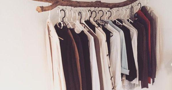 frei h ngende kleiderstange als sch ne und einfache diy idee wohnen in wohnen pinterest. Black Bedroom Furniture Sets. Home Design Ideas