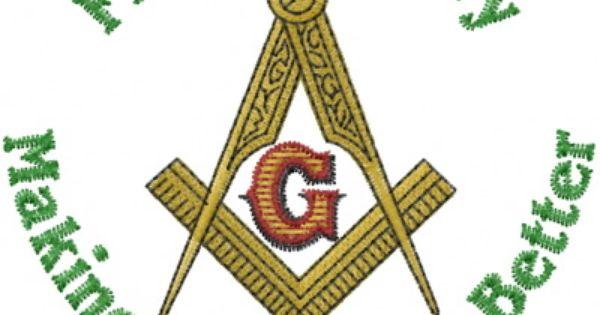 Embroidered Hank Masonic Symbol