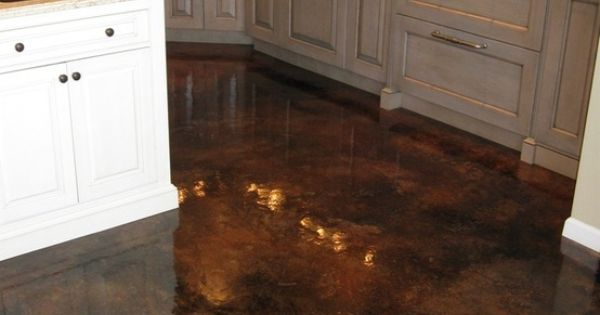 Love these floors acid stained concrete with high gloss for What to clean concrete floors with
