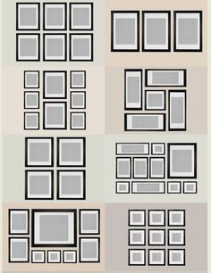 Ikea Ribba Frame Gallery Wall Grid Google Search Gallery Wall Layout Gallery Wall Ikea Gallery Wall