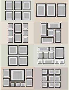 ikea ribba gallery wall layout # 0