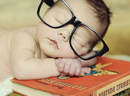 baby photo idea: glasses