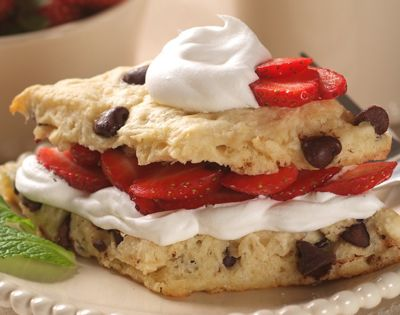chocolate chip strawberry shortcake: for dessert tomorrow. gluten/wheat free adaptation will be