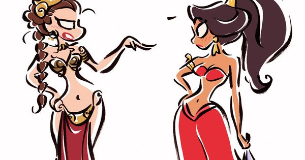 Disney Pocket Princess Leia | Princesses and Slaves : Leia vs. Jasmine