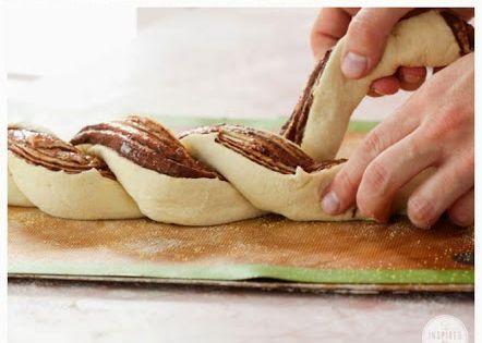 Braided Nutella Bread by inspiredbycharm via toprecipeblog Bread Nutella