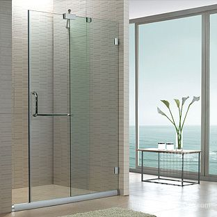 Shower Room Simple Customize Sliding Door Partition Bathroom Glass