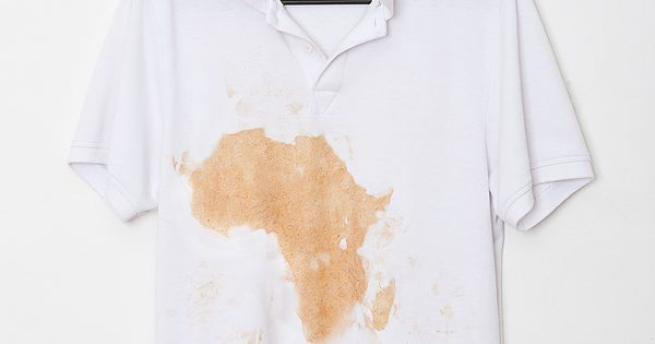 Justin Kemp Polo Shirt With Ketchup Stain That Looks