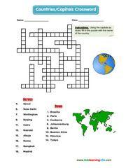 Crossword Esl Efl Vocabulary Worksheets Crossword Crossword Puzzle Puzzles For Kids