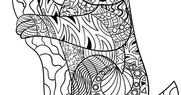 Koala zentangle Animal Coloring Pages for Adults