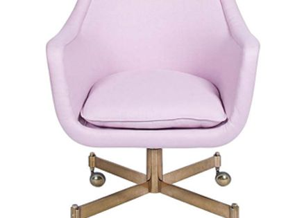 fun lavender chair for an office space