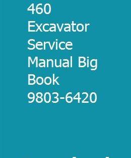 Jcb 330 450 460 Excavator Service Manual Big Book 9803 6420 Big Book Books Manual