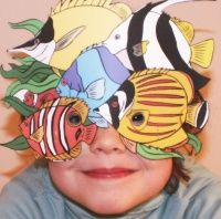 Un Masque De Banc De Poisson Simple A Realiser Deguisement Poisson