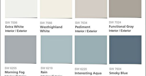 Favorite Pottery Barn Paint Colors From Sherwin Williams 2014 Collection Paint It Monday The