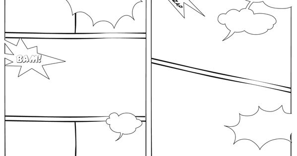 Blank Comic Strip Template For Students Blank Comic Strip