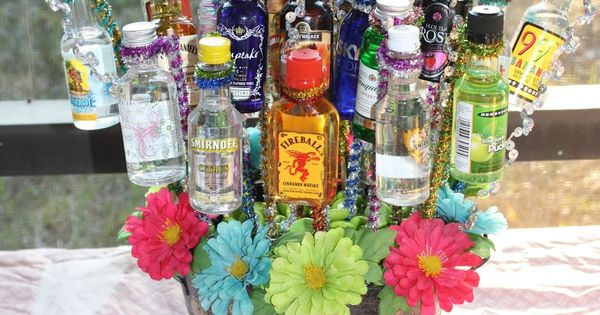 Birthday shot basket. 21st birthday gift idea