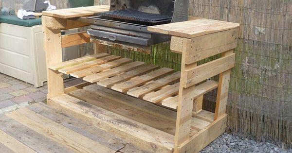 barbecue objet et meuble en palette meubles en bois de palette pinterest palettes. Black Bedroom Furniture Sets. Home Design Ideas