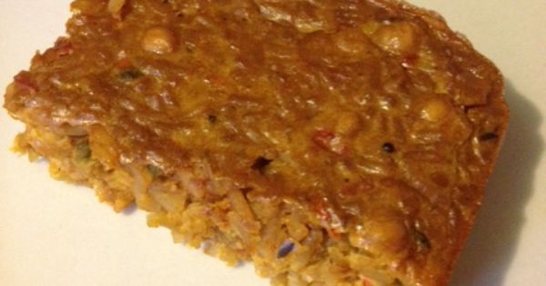 """Slimming World - Syn free chickpea dahl loaf 