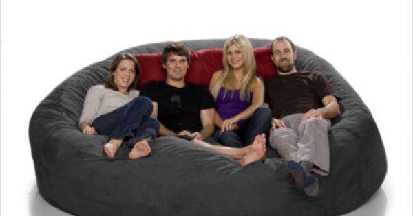 Talk About A Snuggle Fest Jaxx Foam Bean Bag Sofa Sac