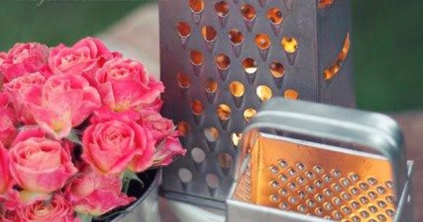 Cheese Grater Flower Vase Google Search Simply
