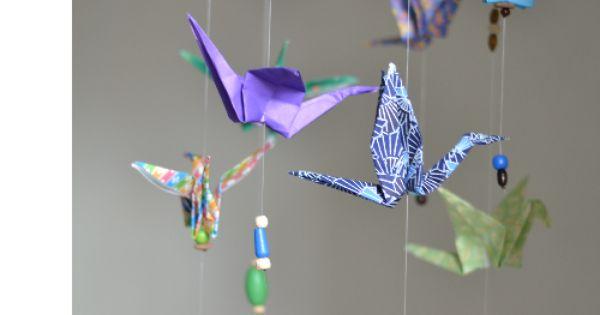 diy fabriquer id e pour faire un mobile pour b b avec des grues en origami mobiles pour. Black Bedroom Furniture Sets. Home Design Ideas