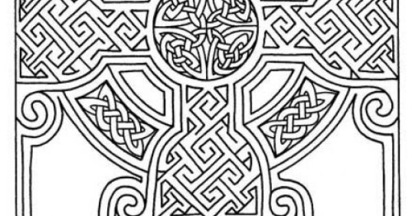 Advanced Mosaic Coloring Pages : Advanced coloring page of celtics mosaic art to print for