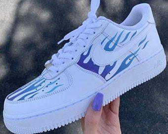 Flammes réfléchissantes Nike Air Force 1 fr Custom Air Force ...
