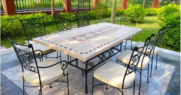 Table De Jardin Mosa Que En Pierre Naturelle Tampa 160 Et 200cm Living 39 Roc Exterieur