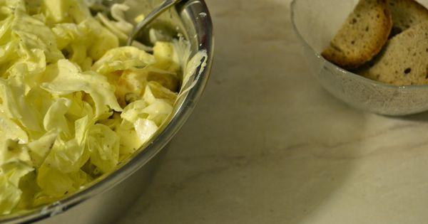 zuckerhut salat mit apfel orange waln ssen und joghurt dressing recipe. Black Bedroom Furniture Sets. Home Design Ideas