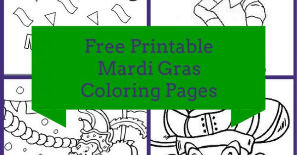 Free Printable Mardi Gras Coloring